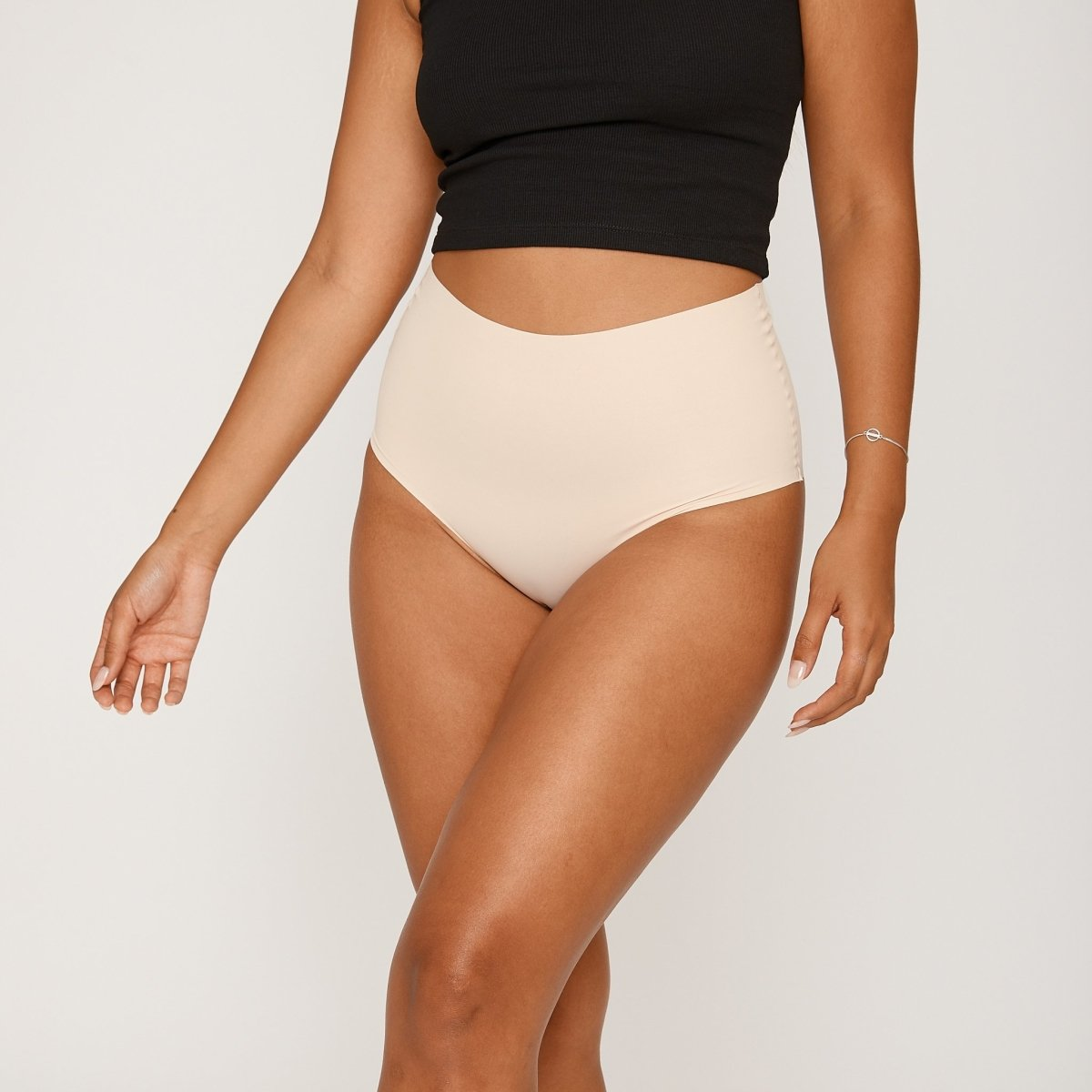 High-Rise Cheeky - Buttermilk - Peach Underwear