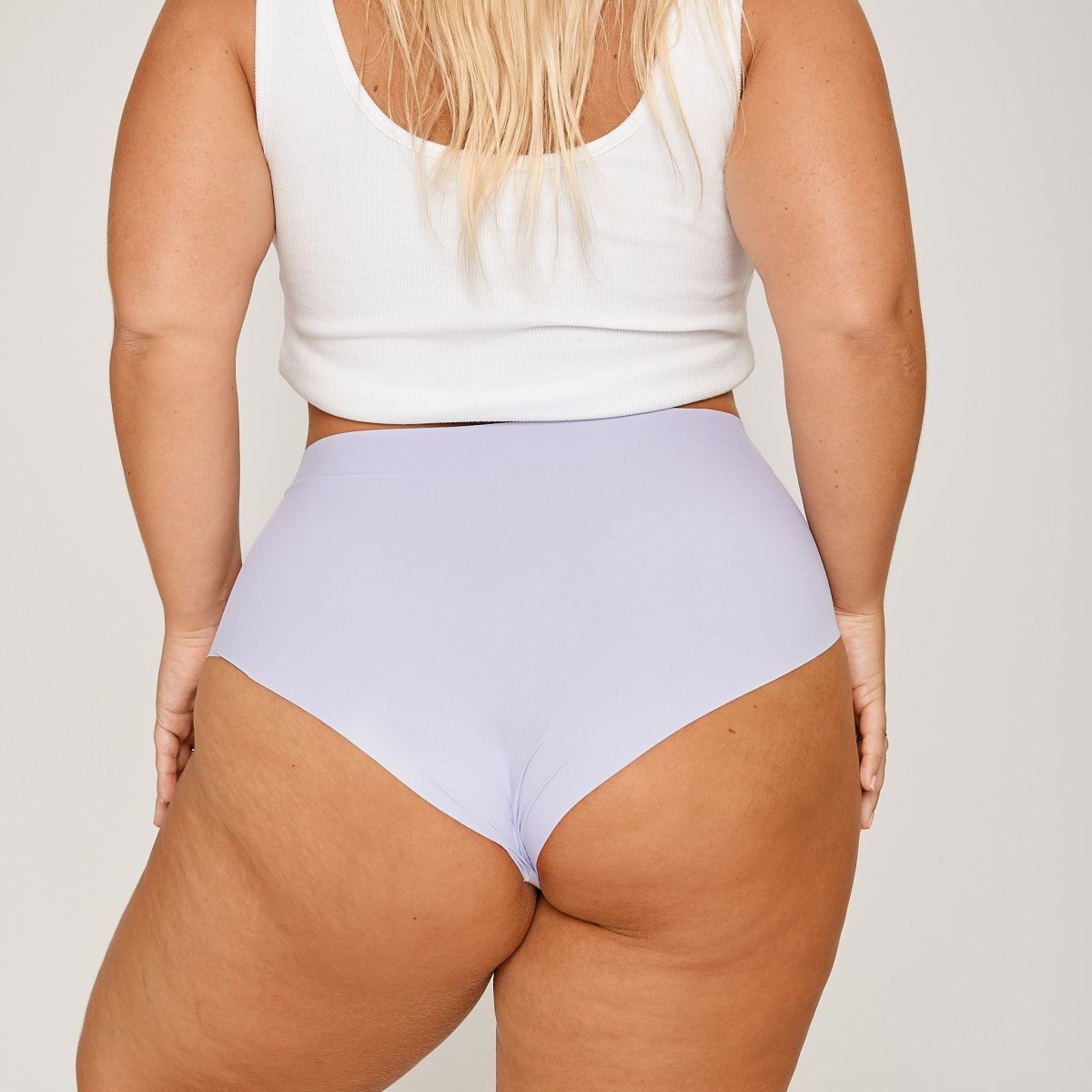 High-Rise Cheeky - Dewberry - Peach Underwear