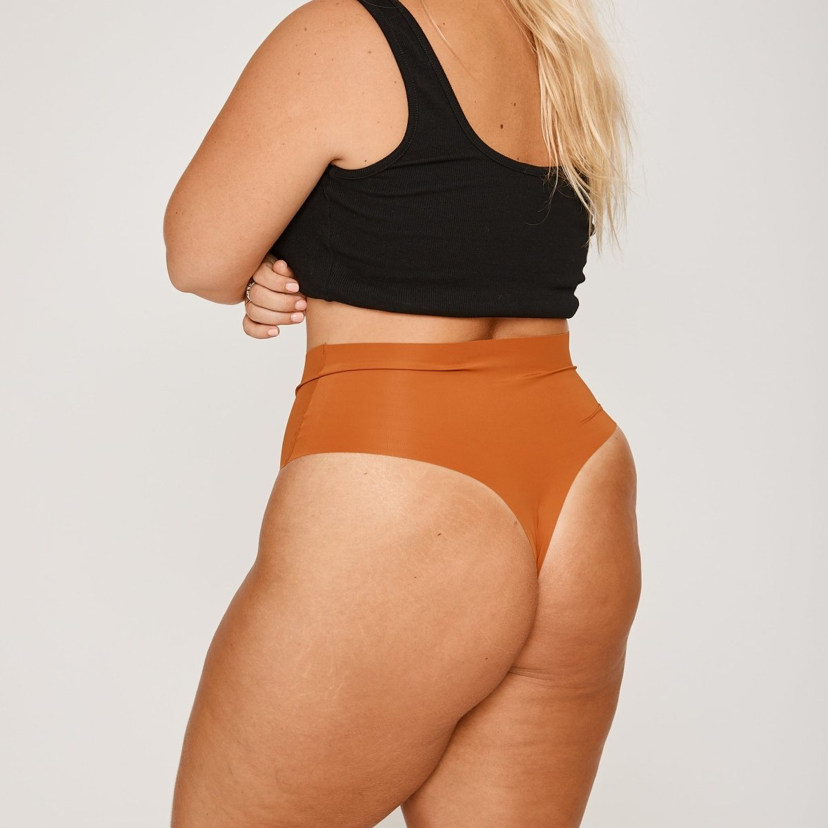 High-Rise Thong - Ochre - Peach Underwear