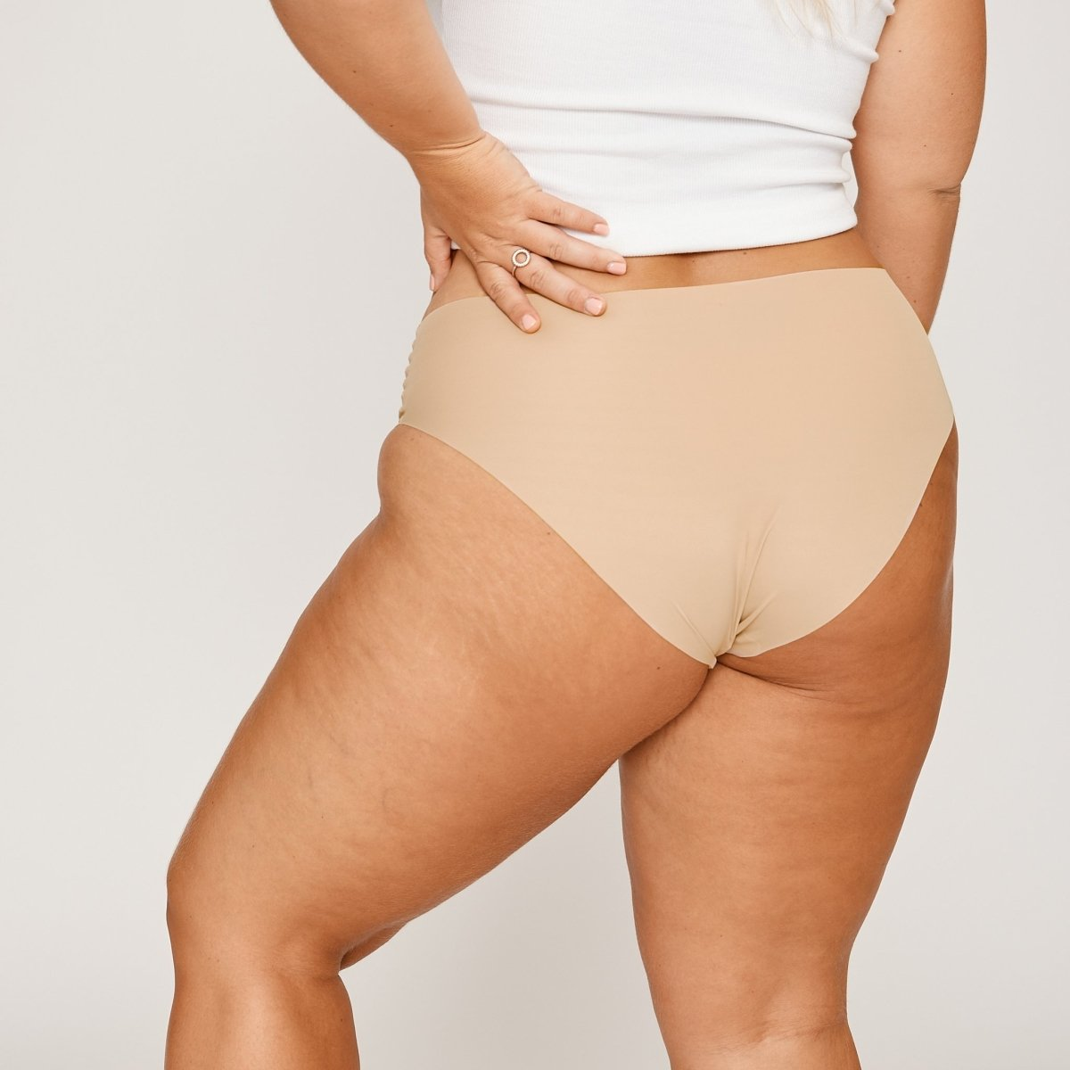 Mid-Rise Bikini Brief - Latte - Peach Underwear