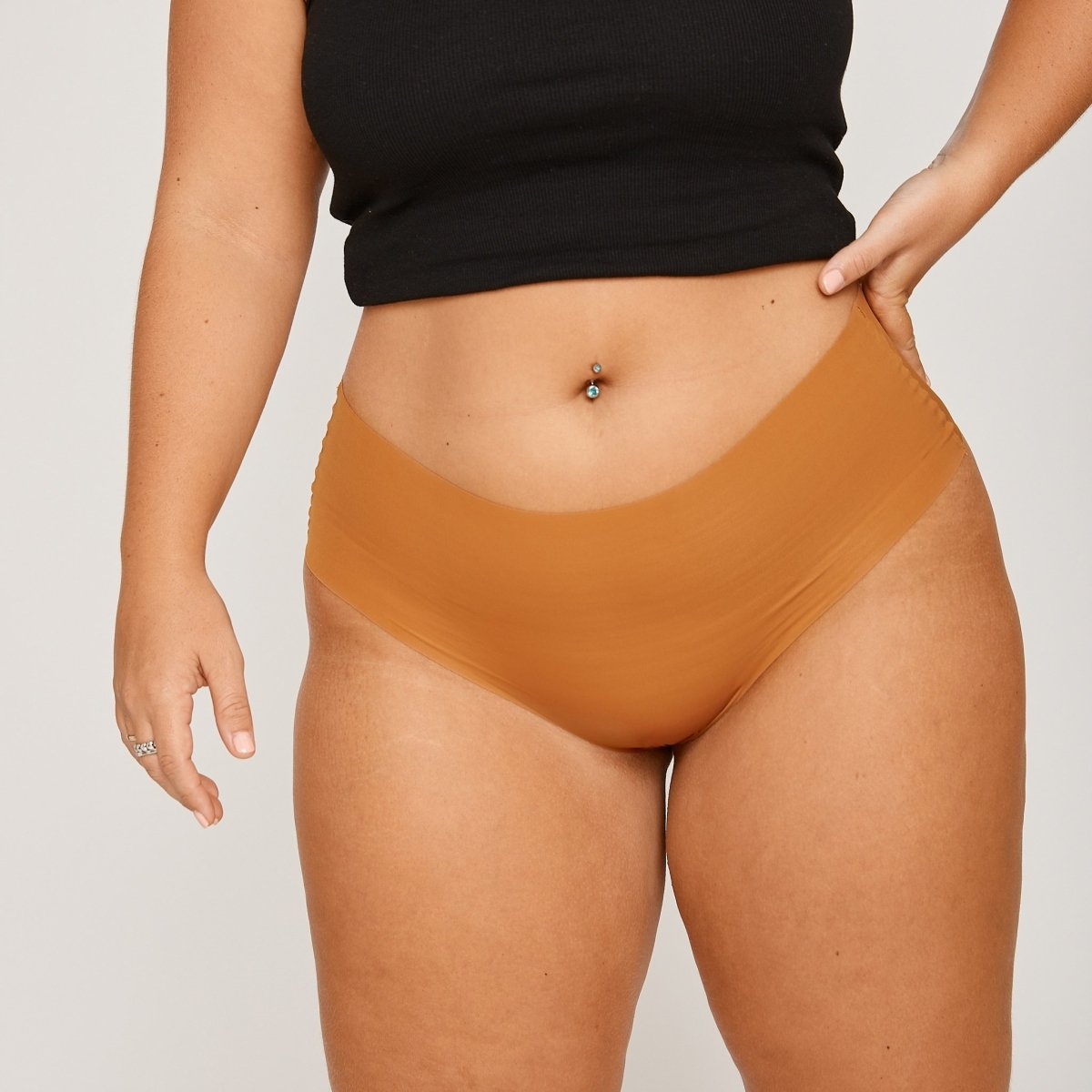 Mid-Rise Cheeky - Golden - Peach Underwear