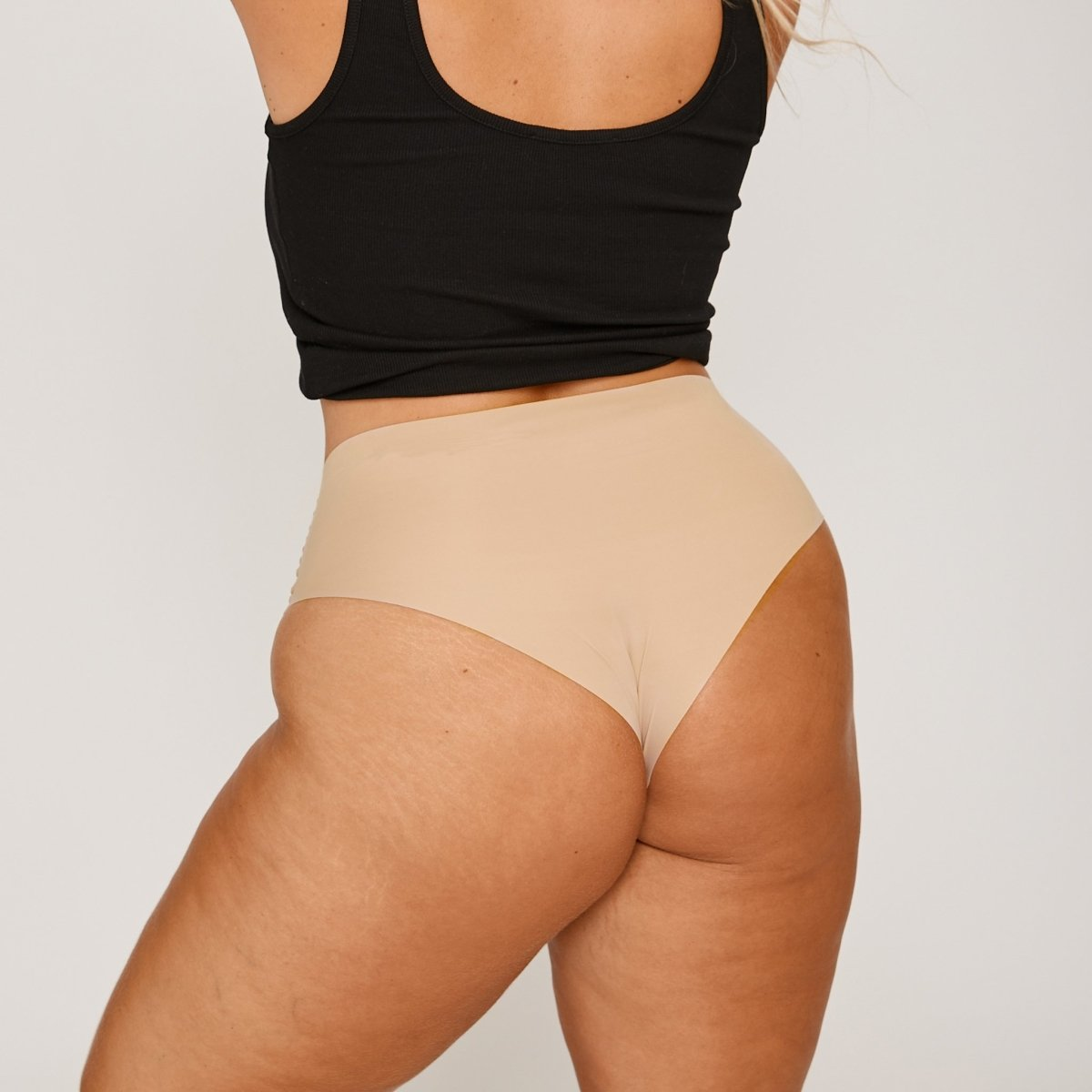 Mid-Rise Cheeky - Latte - Peach Underwear