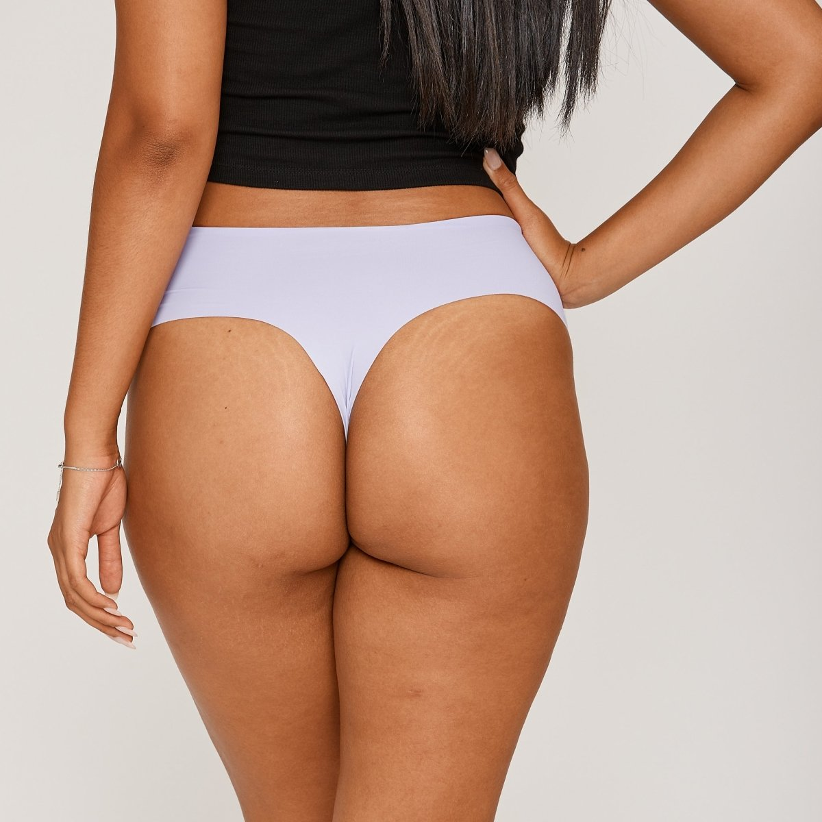 Mid-Rise Thong - Dewberry - Peach Underwear