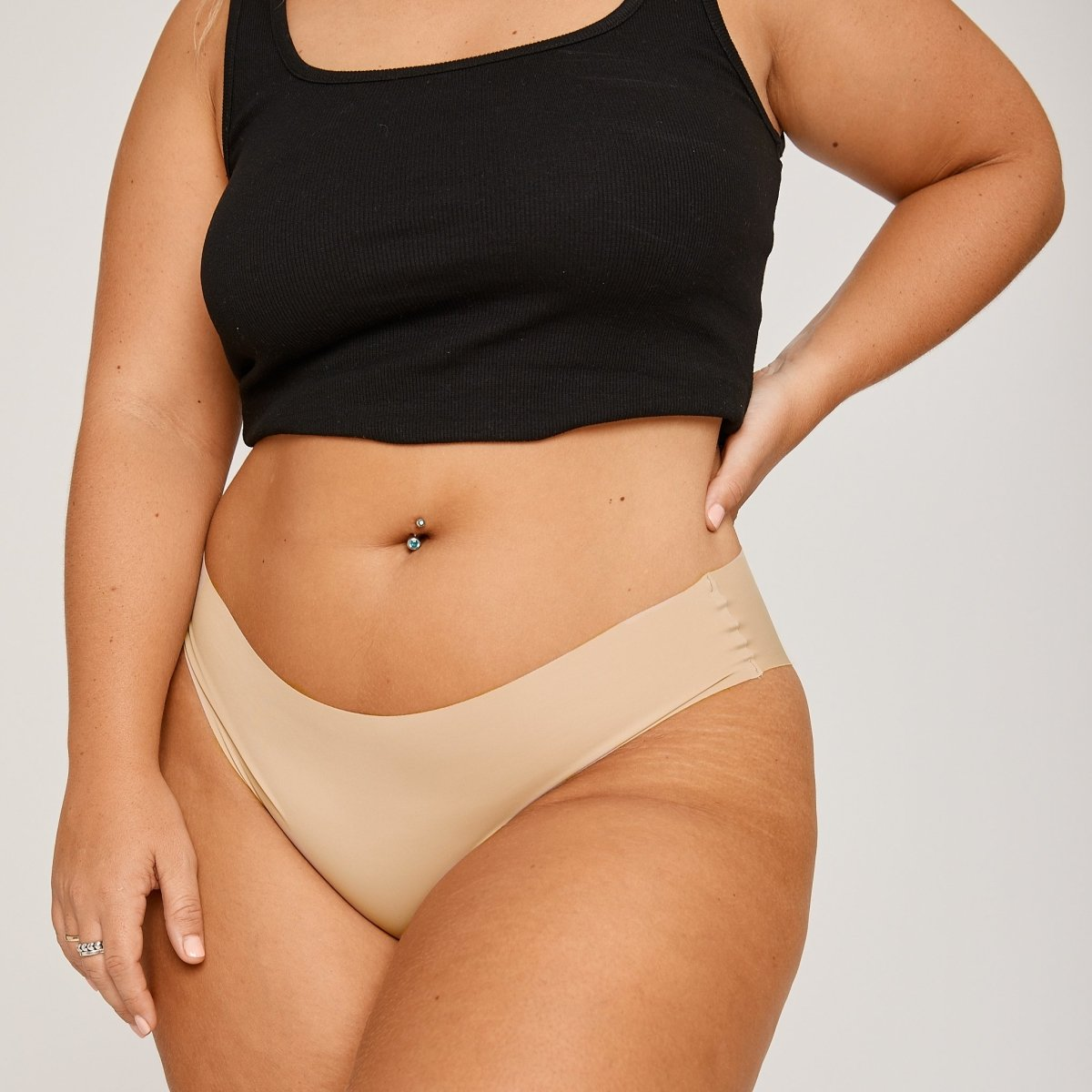Original-Rise Cheeky - Latte - Peach Underwear