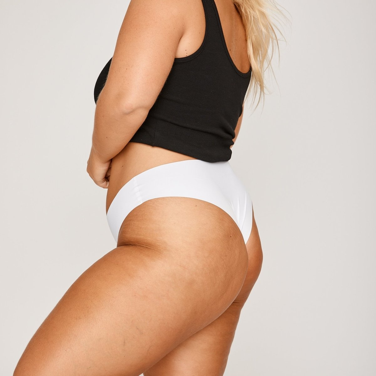 Original-Rise Cheeky - White - Peach Underwear