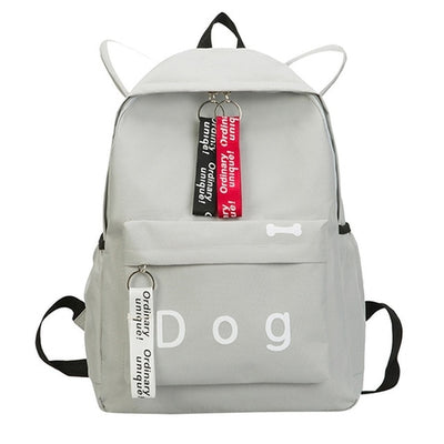 Canvas dog School Bag