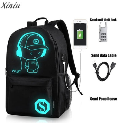 Glowing USB Backpack