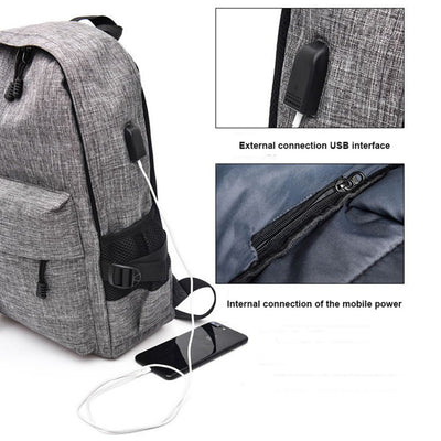 Waterproof USB Recharging Backpack