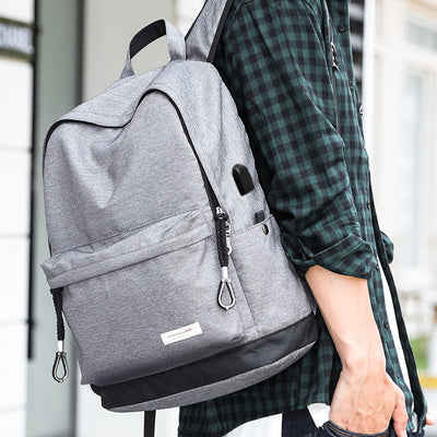 Canvas USB Port  Chargeable Backpack