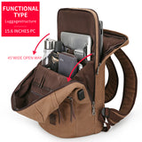 Canvas Backpack With USB Design