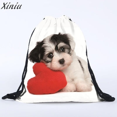 Puppy Drawstring Backpack