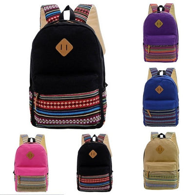 Canvas Japanese Style Backpack