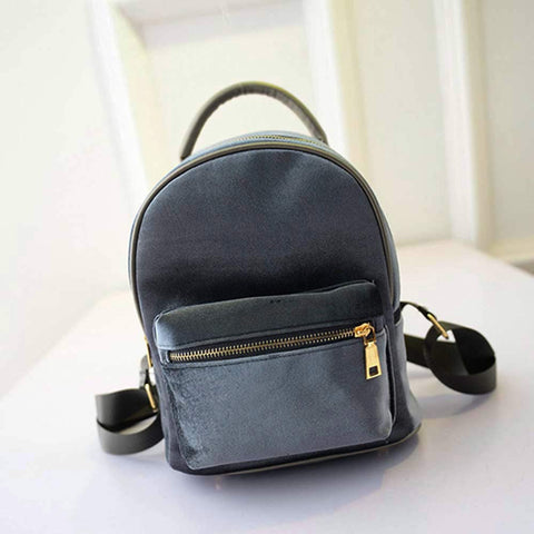 Women Velvet backpack