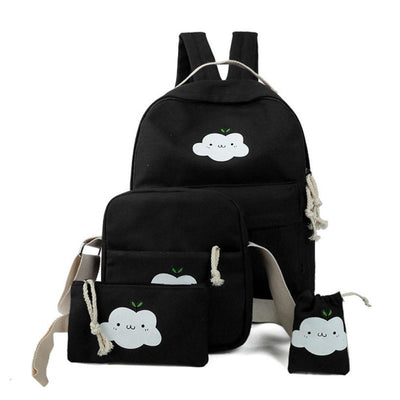 Four-piece canvas Backpack