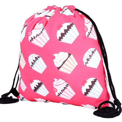 Cupcake Drawstring Backpack