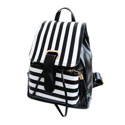 Leather day bag backpack