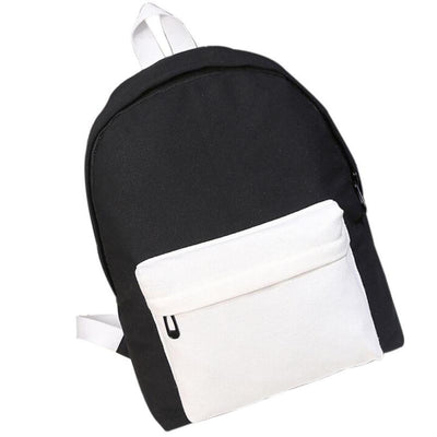 Two-tone School Bag Shoulder Bag