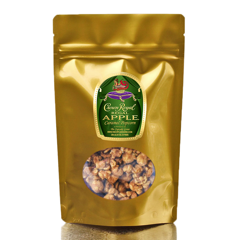 Large  Crown Apple Caramel Popcorn Pouch (Double Pack)