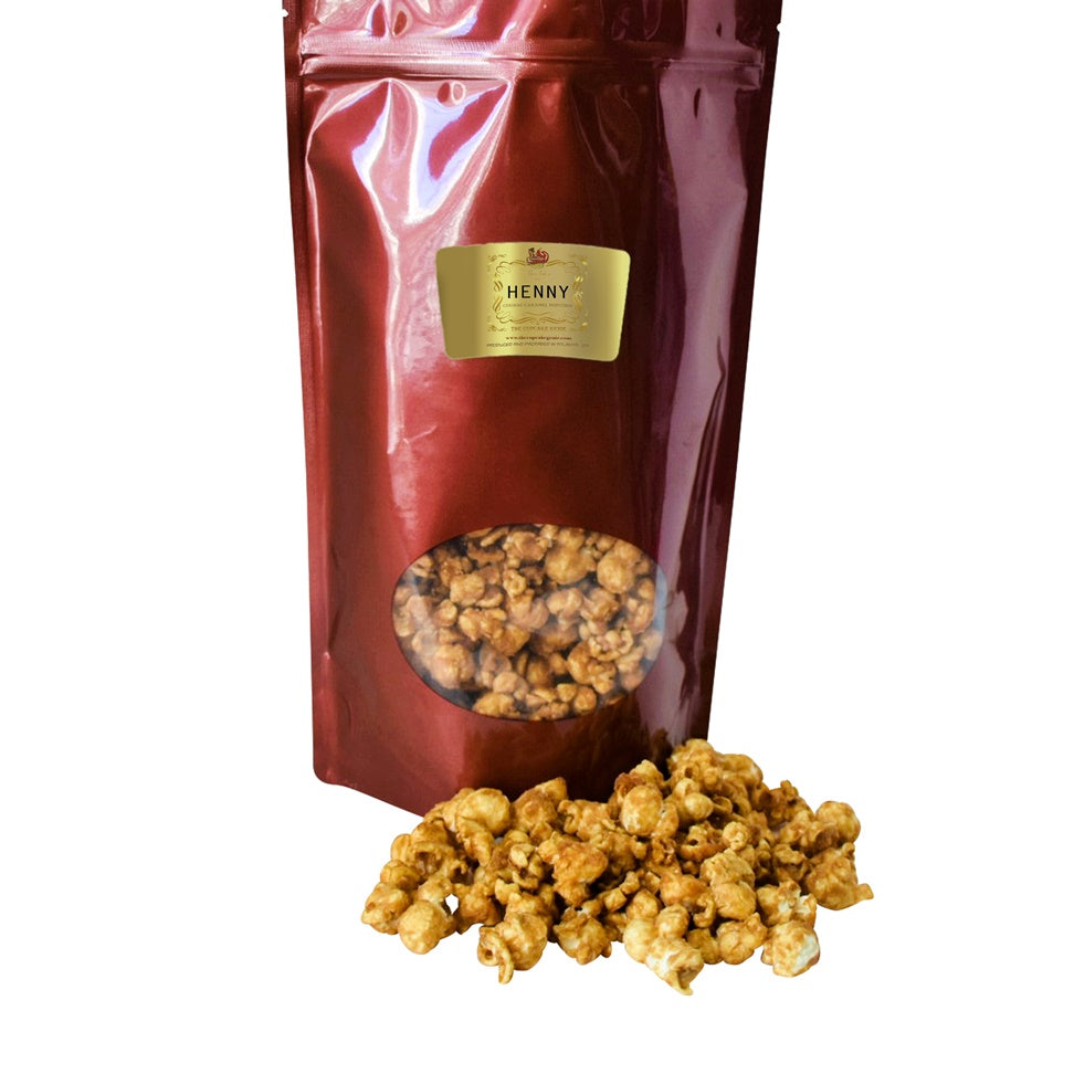 Large Caramel Henny Popcorn Pouch (Double Pack)