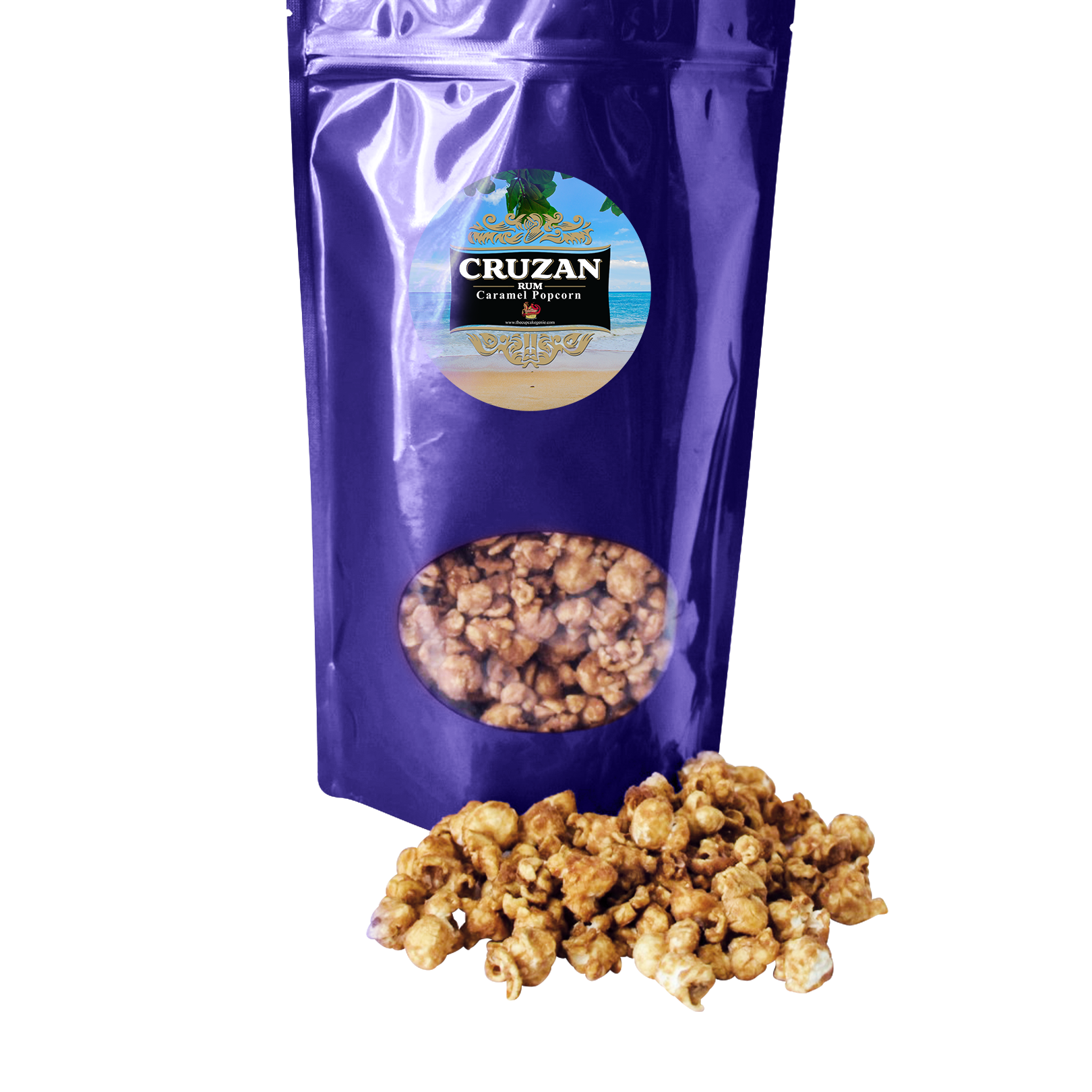 Medium Cruzan Rum Caramel Popcorn (Triple Pack)