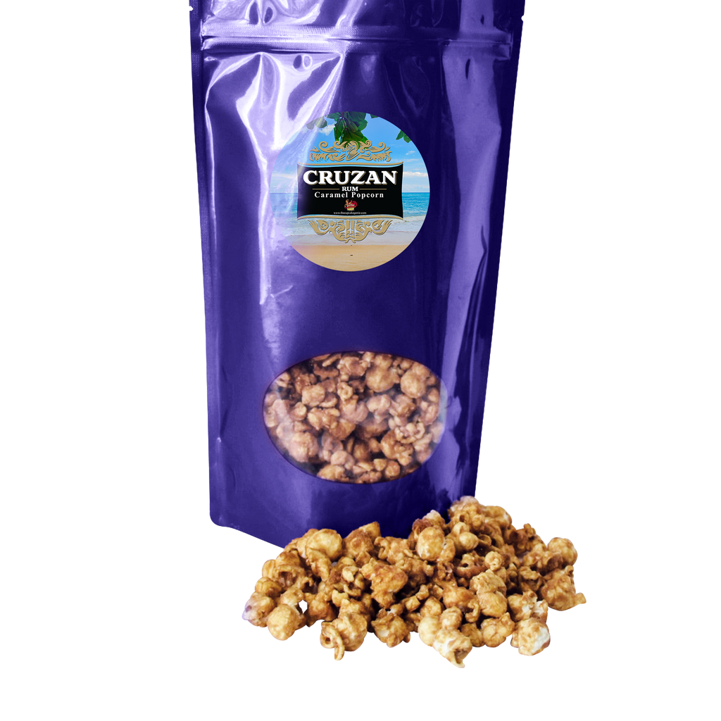 Large Cruzan Rum Caramel Popcorn Pouch (Double Pack)