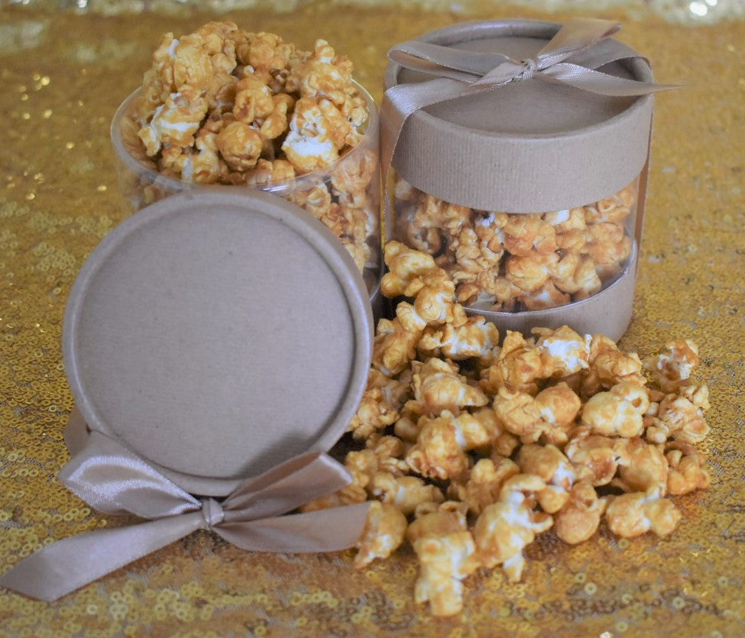 Crown Apple Caramel Popcorn Fancy Gift Can w/ Bow