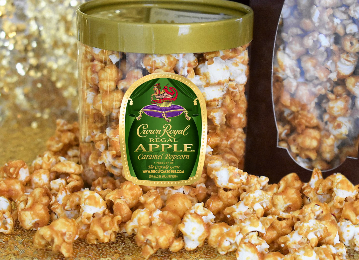Crown Apple Caramel Popcorn Gift Can