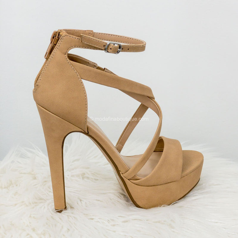 Airbag Platform Open Toe Strappy High Heel-Shoes-Moda Fina Boutique