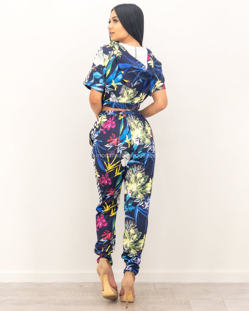 Antonia Hooded Print Race Set-Set-Moda Fina Boutique
