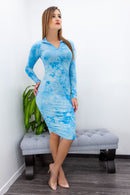 Bodycon Long Sleeve Midi Dress-Midi Dress-Moda Fina Boutique