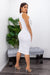 Bodycon Sleeveless Midi Dress-Midi Dress-Moda Fina Boutique
