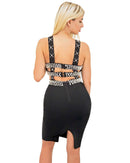 Caylee Pearl Cutout Bandage Mini Dress-Mini Dress-Moda Fina Boutique
