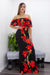 Floral Off Shoulder Maxi Dress-Maxi Dress-Moda Fina Boutique