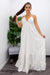 Halter Open Back White Maxi Dress-Maxi Dress-Moda Fina Boutique