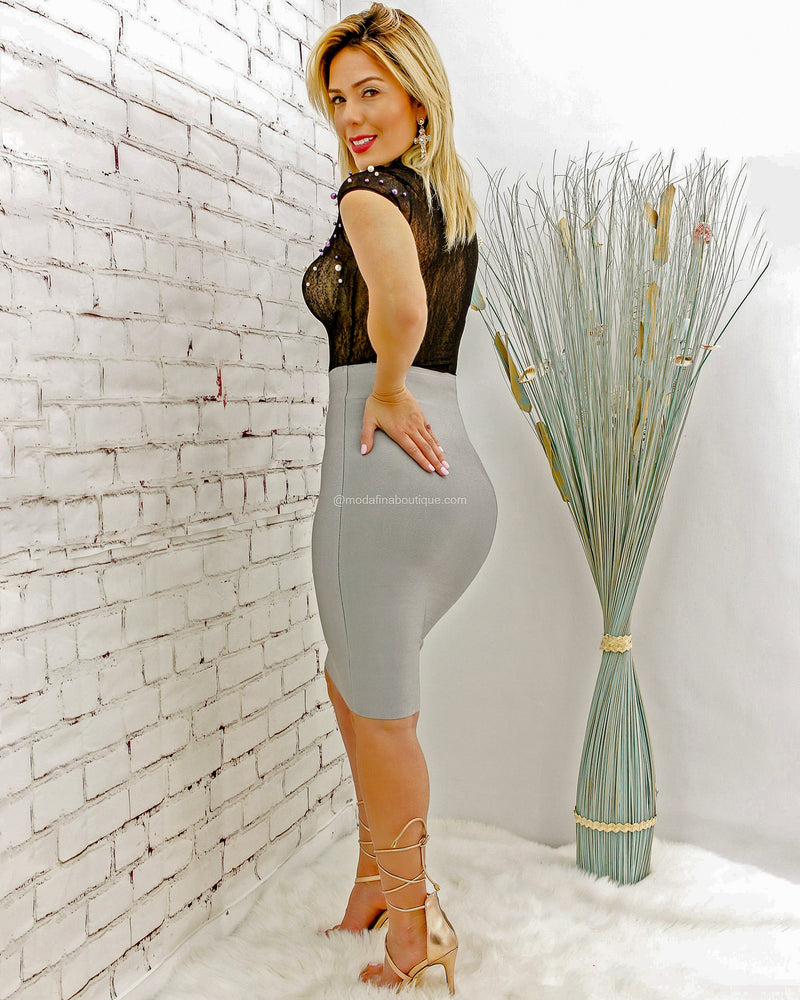 Harmony High Waisted Clean Front Pencil Skirt-Bottom-Moda Fina Boutique