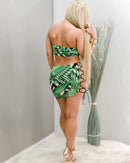 Josephina Strappy Leaf Print Skirt Set-Set-Moda Fina Boutique