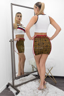Leatha Print Mini Skirt Set-Set-Moda Fina Boutique