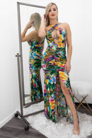 Lory Sleeveless Open Front Crossed Slit Maxi Dress-Maxi Dress-Moda Fina Boutique