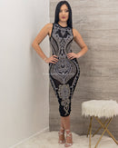 Melanie Sleeveless Rhinestone Midi Dress-Midi Dress-Moda Fina Boutique
