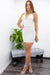 Rhinestone Cross Back Mini Dress-Mini Dress-Moda Fina Boutique