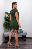 Short Sleeve With Strap Mini Dress-Mini Dress-Moda Fina Boutique