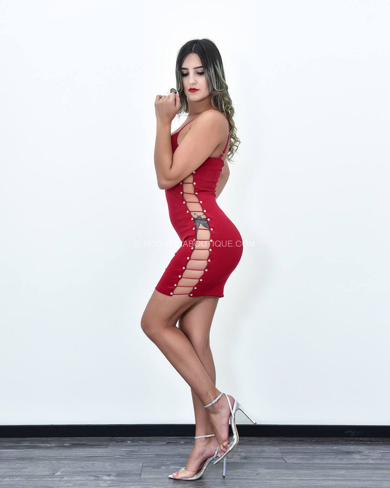 Tenley Cutout See Through Mini Dress-Mini Dress-Moda Fina Boutique