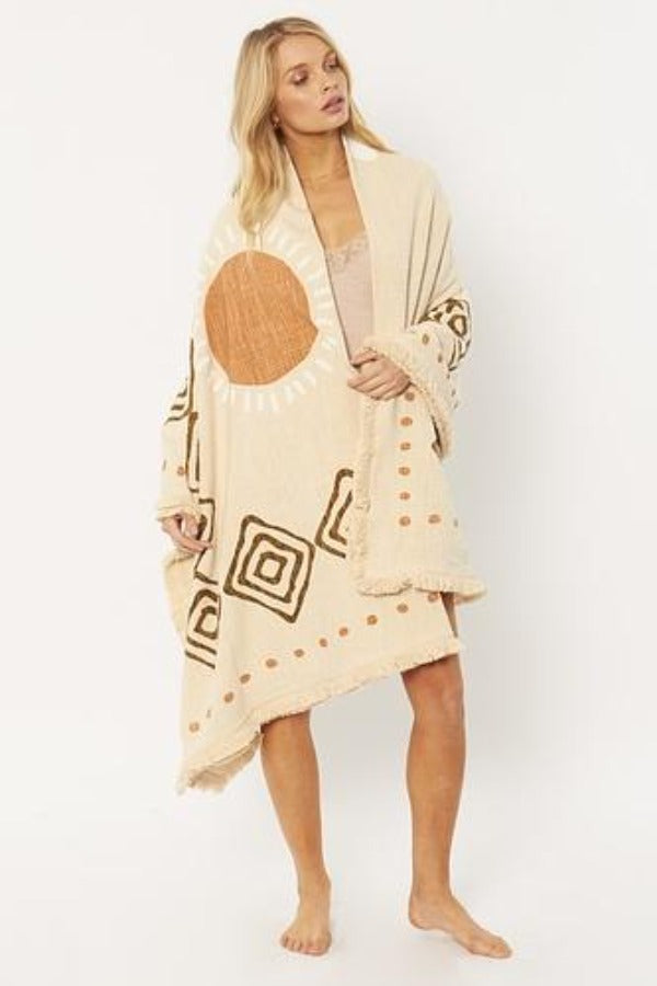Bonfire Woven Blanket-Amuse Society