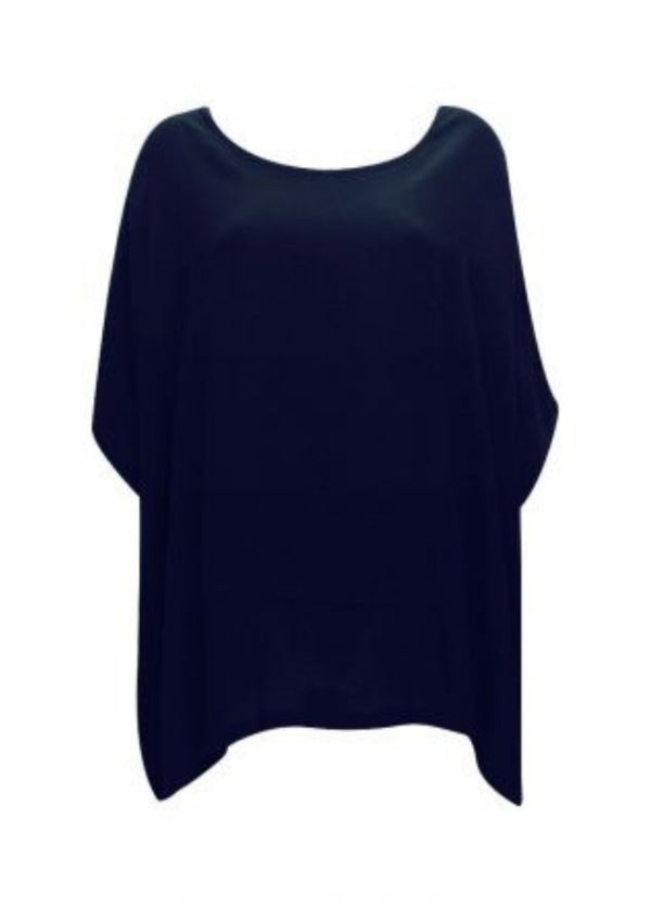 Drape Top- Navy