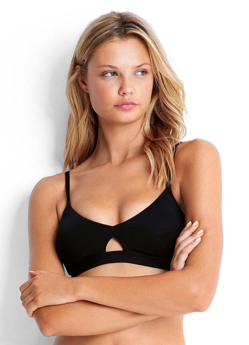Seafolly Active Hybrid Bralette Top- Black - Idaho Boutique