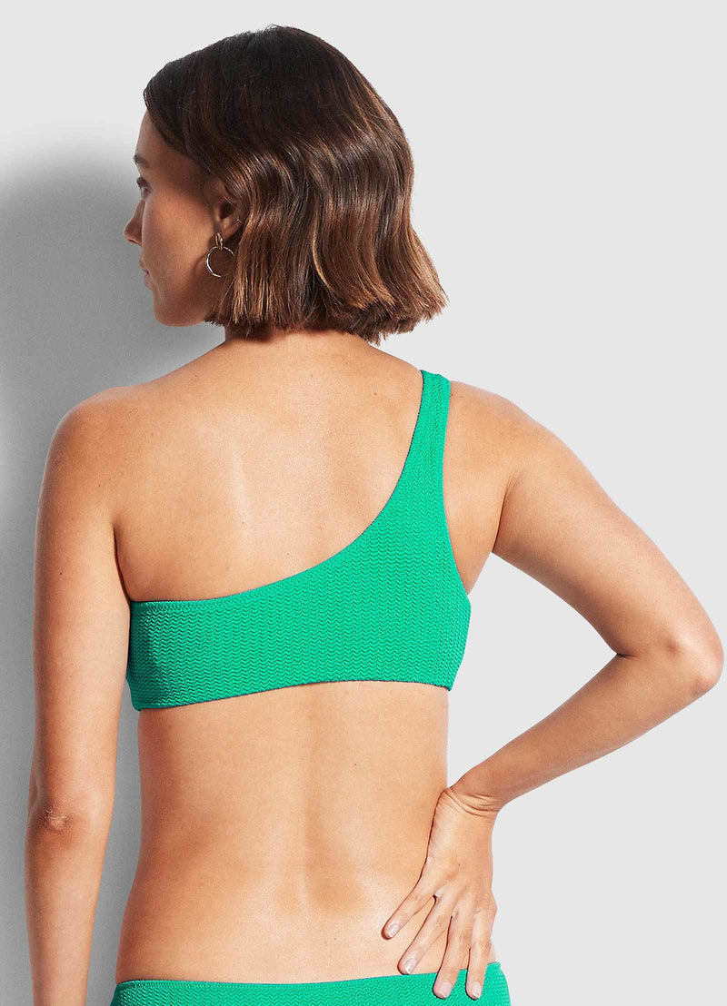 Sea dive one shoulder top jade