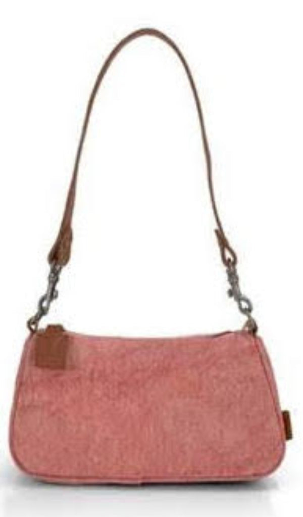 Natural Baguette Bag - Rose