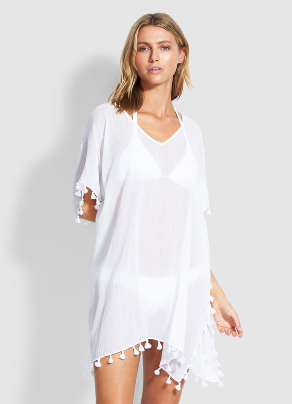 Beach Basics Amnesia Kaftan - White