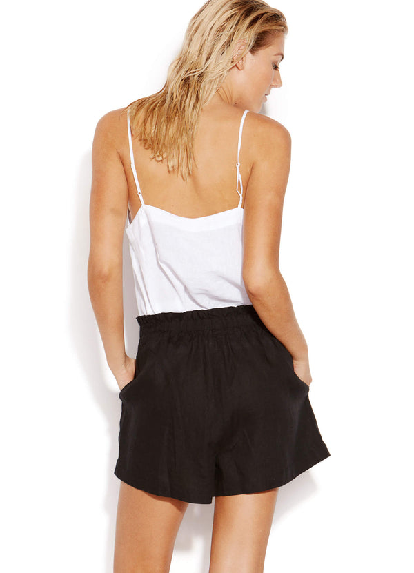 Sunflower Linen Short - Black