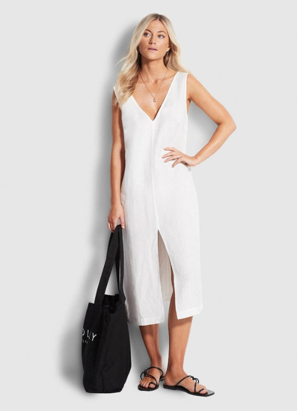 Beachedit Essentials Linen Midi
